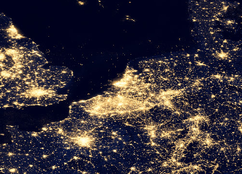 Night Lights benelux Belgium - Nasa